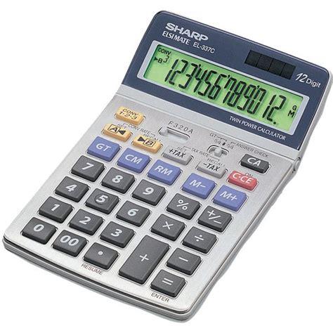 calcolatrice da ufficio calcolatrice da tavolo el 337 c sharp el 337 cb