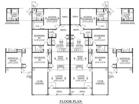 duplex building plans miscellaneous duplex floor plans design interior