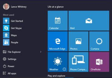how to switch between the start menu and start screen in