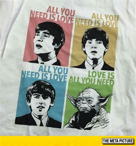 Beatles Yoda Meme - let the music flow you must the meta picture