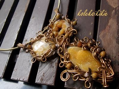 Kalung Batu Wire Etnik Bronze kalung wire honey koleksikikie