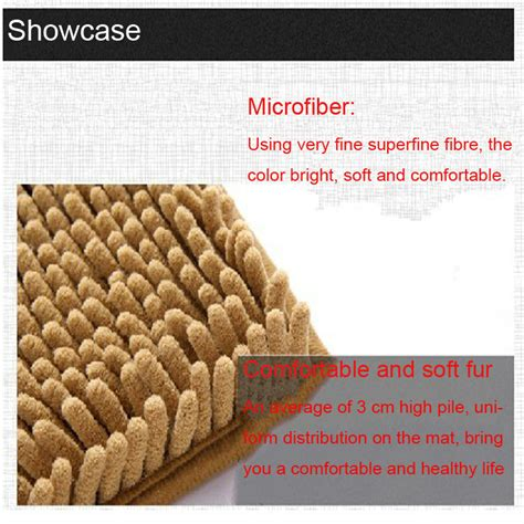Hs Code For Mat by Microfiber Chenille Bath Mats With Back Buy Bath