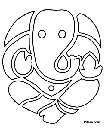 Lord Ganesha Coloring Pages For Kids Pitara Kids Network