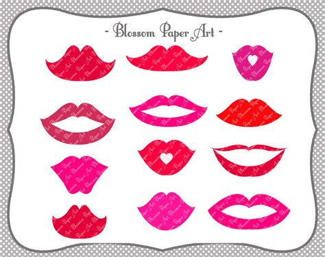printable art diy lips digital clipart printable diy photo booth