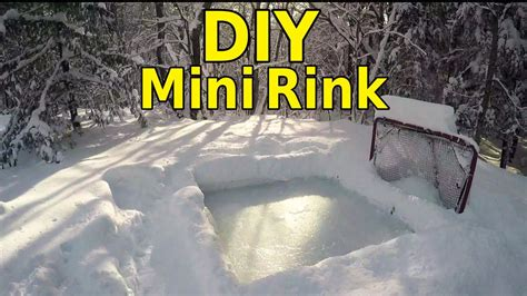 how to build a mini backyard rink