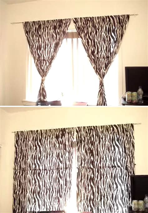 How to hang curtains without making holes in the wall 171 interior design