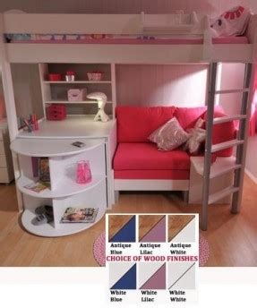 Cabin Bed With Futon And Desk by Cabin Bed With Desk And Futon Roselawnlutheran