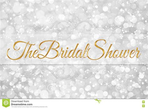 Wedding Background For Word by The Bridal Shower Word On White Silver Background Stock