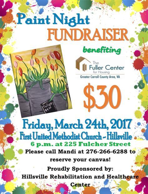 paint nite fundraiser hillsville united methodist church hillsville va