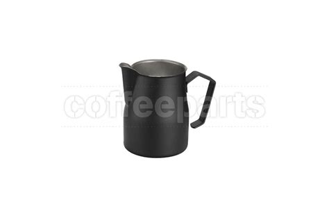 motta 750ml black milk jug made in italy coffee parts