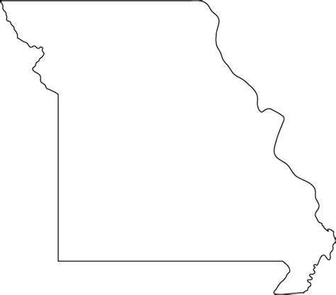 Missouri State Outline by Missouri Outline Map