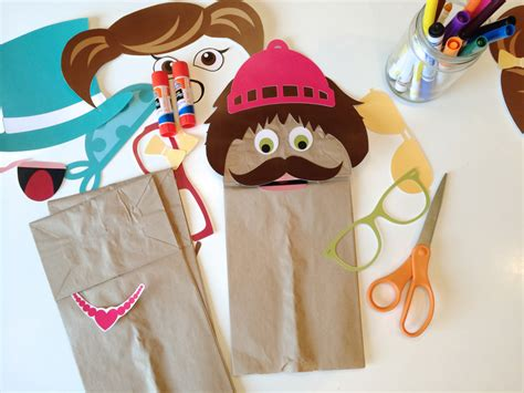 printable paper bag puppets