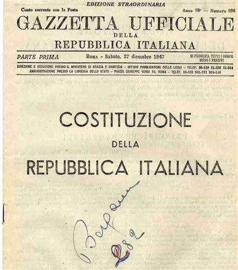 costituzione italiana testo cosa sappiamo sulla costituzione italiana lettura