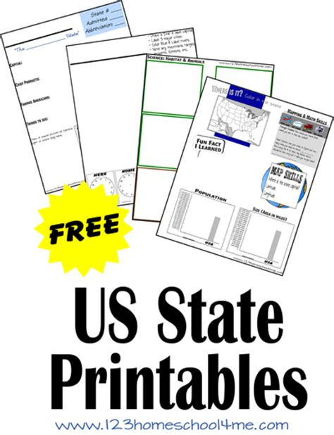 Elementary State Report Template Free Us State Printable Worksheets Free Homeschool Deals