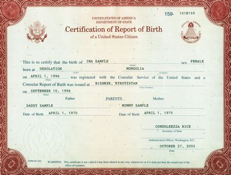 Template For A Consular Report Of Birth Abroad Form I 9 Acceptable Documents Uscis