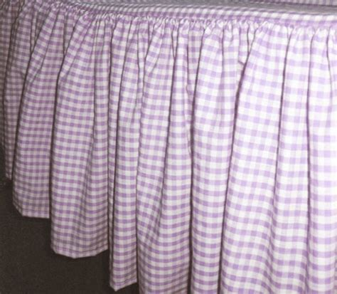Light Purple Gingham Check Bedskirt (in all sizes from