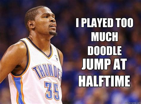 doodle jump kevin durant i played much doodle jump at halftime kevin durant