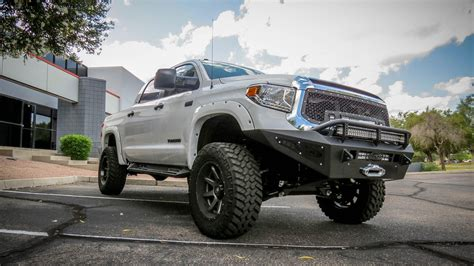 Toyota Tundra Bumpers 2014 Toyota Tundra Honeybadger Winch Front Bumper