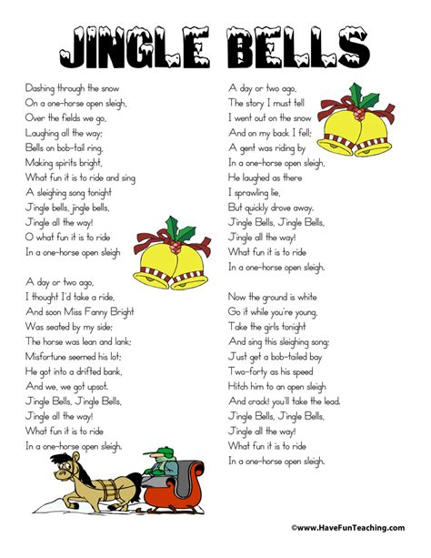 testo canzone jingle bell rock jingle bells lyrics teaching