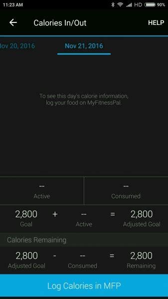 reset calories on vivosmart mi 5 by xiaomi and vivosmart hr by garmin compatibility