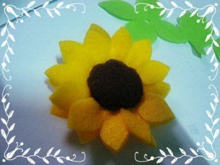 pola membuat bunga matahari dari kain flanel cara membuat bunga telur dari kain felt cara membuat