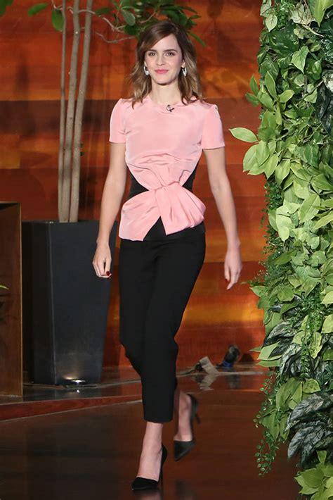 emma watson ellen emma watson s outfit on the ellen degeneres show cute