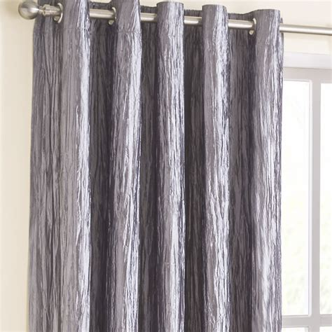 Silver Curtains Designer Eyelet Curtains Coco Silver Eyelet Curtains