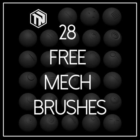 zbrush tutorial gumroad zbrush 28 free mech brushes 3d tips pinterest toms