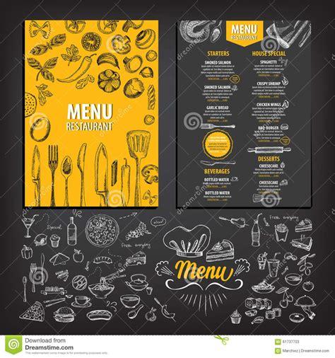 menu design eps restaurant cafe menu template design stock vector