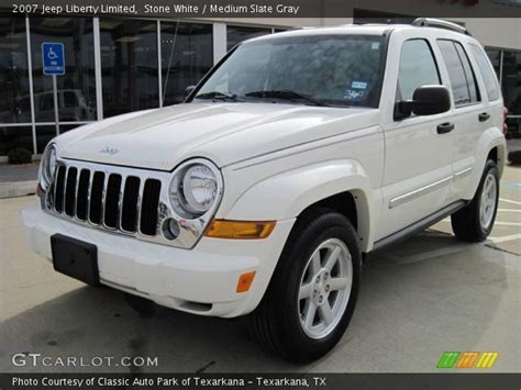 Jeep Liberty Limited 2007 White 2007 Jeep Liberty Limited Medium Slate