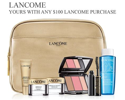 all lancome gift with purchase offers in june 2018
