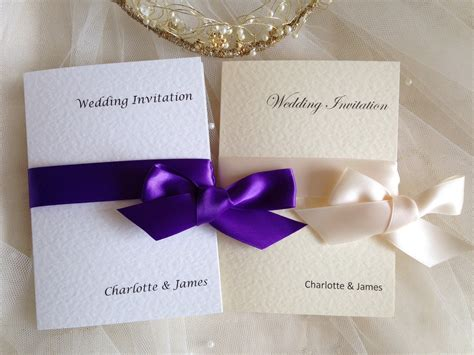 Wedding Invitations With Ribbon by Wrap Ribbon Wedding Invitations Wedding Invites