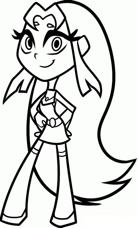 coloring page starfire teen titans go coloring pages starfire coloring 4 kids