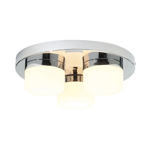 Endon Bathroom Lights 34200 3 Light Flush Ceiling