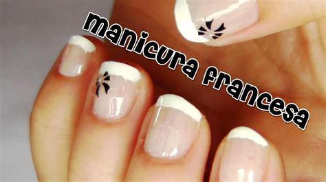 imagenes de uñas de acrilico pequeñas manicura francesa para u 241 as cortas 2 youtube