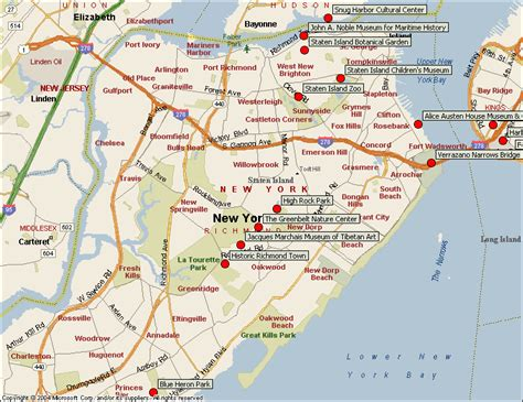 staten island map staten island new york city attractions map find the nyc attraction you seek in manhattan ny