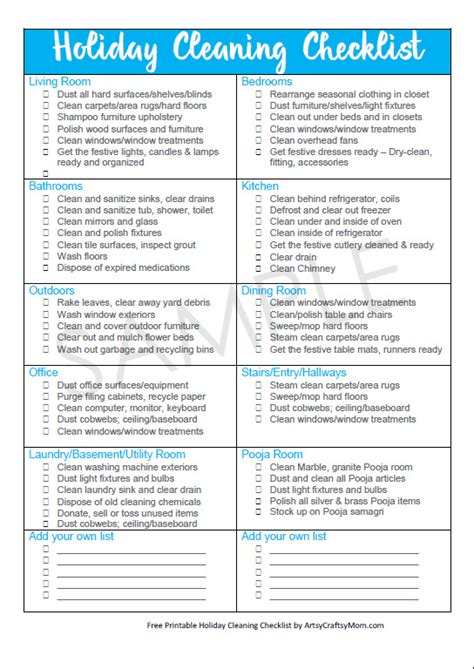 printable christmas checklist holiday cleaning free checklist for a guest ready home