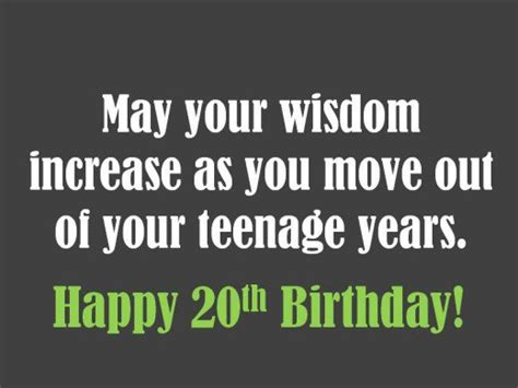 Birthday Quotes For 20 Year 20th Birthday Wishes To Write In A Card Holidappy