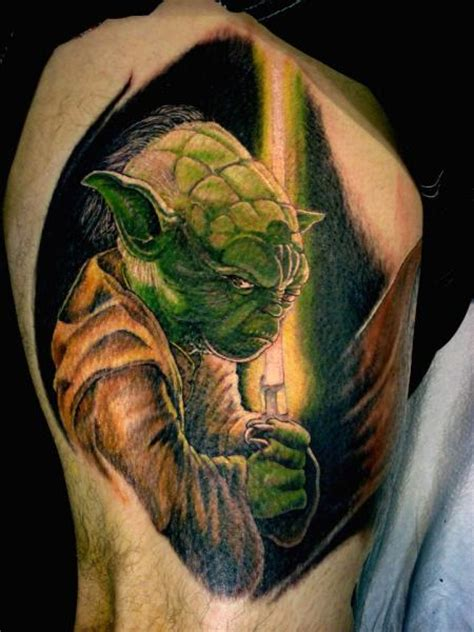 arm fantasy yoda tattoo by tora tattoo