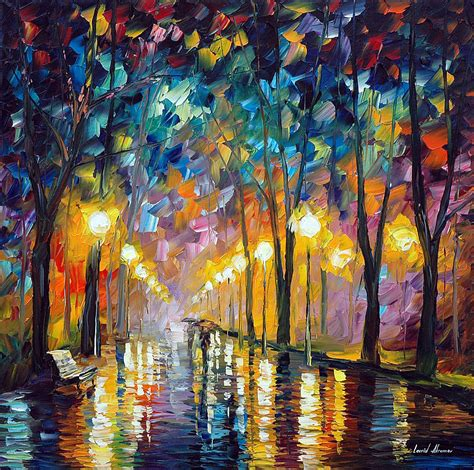 H Painting by After The Celebration Palette Knife Painting On