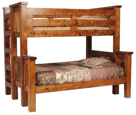 wood bunk beds twin over full rustic wood twin over full bunk bed express home decor