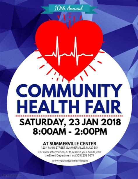 fair flyer template free health fair flyer template postermywall