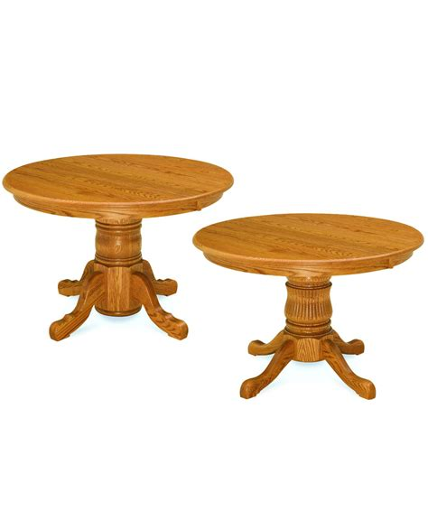 Single Pedestal Dining Table Single Pedestal Dining Table Amish Direct Furniture
