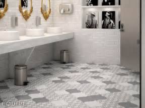And why not arabesque up the wall too these tiles are subtle and