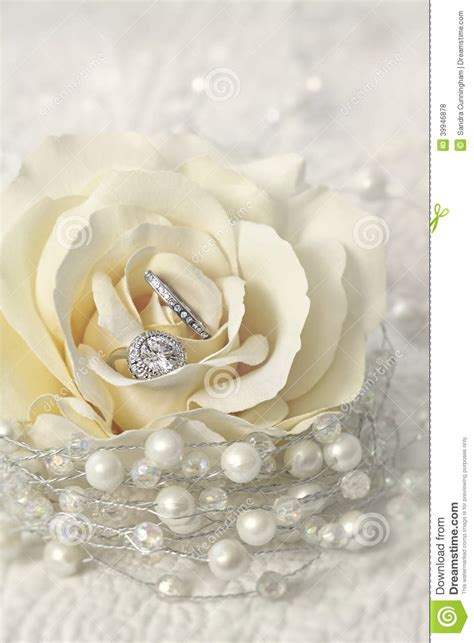 rings with flowers wedding rings in flower stock photo image 39946878