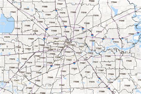Printable Zip Code Map Houston Tx | houston map showing zip codes