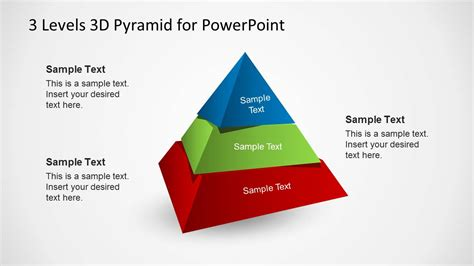 3 Levels 3d Pyramid Template For Powerpoint Slidemodel 3d Pyramid Powerpoint Template