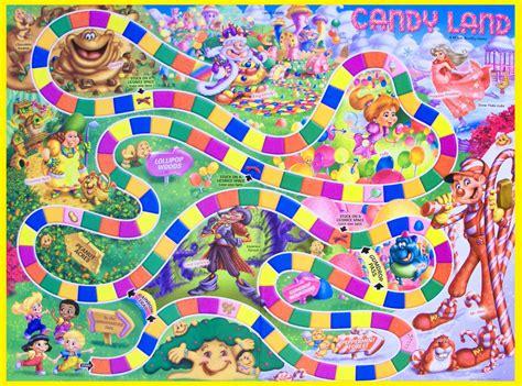 printable candyland board layout candyland board game
