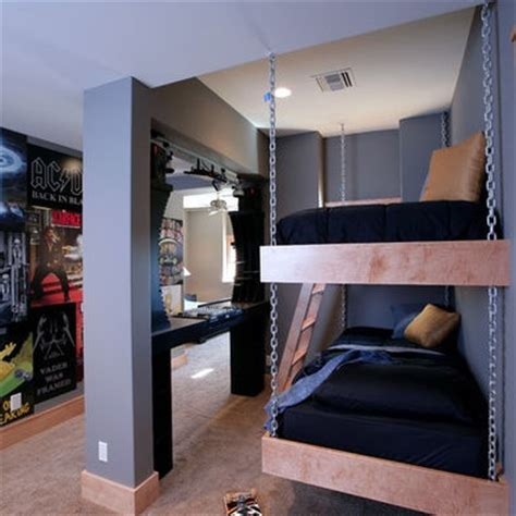 hanging bunk beds hanging bunk bed with chains kids rooms pinterest