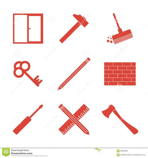 working tools flat icon set stock vector image 40282698 working tools icon set stock illustration image 62855906